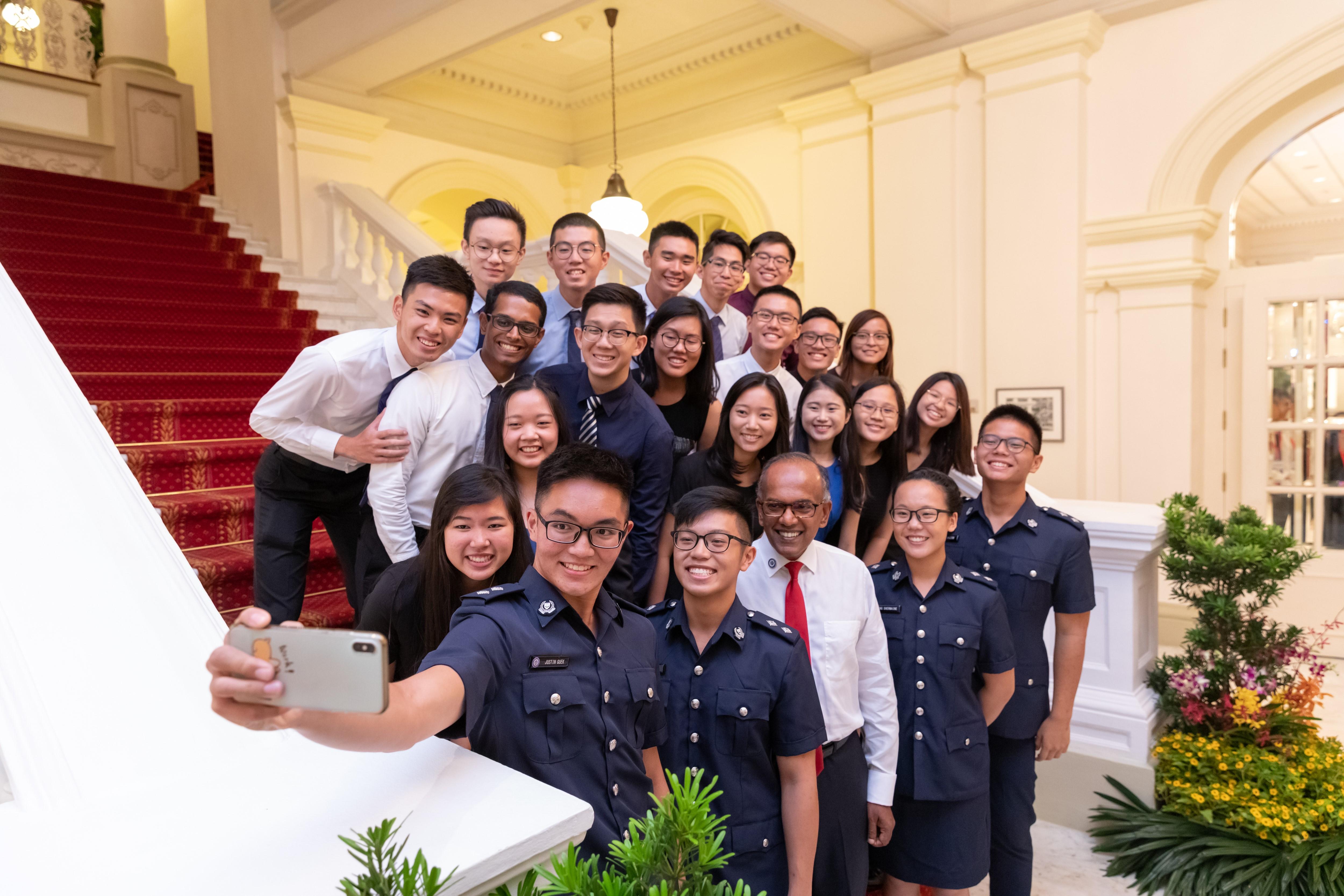alt text - candid shot of SPF scholarship recipients