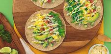 Healthy Breakfast Tacos with Spicy Yogurt