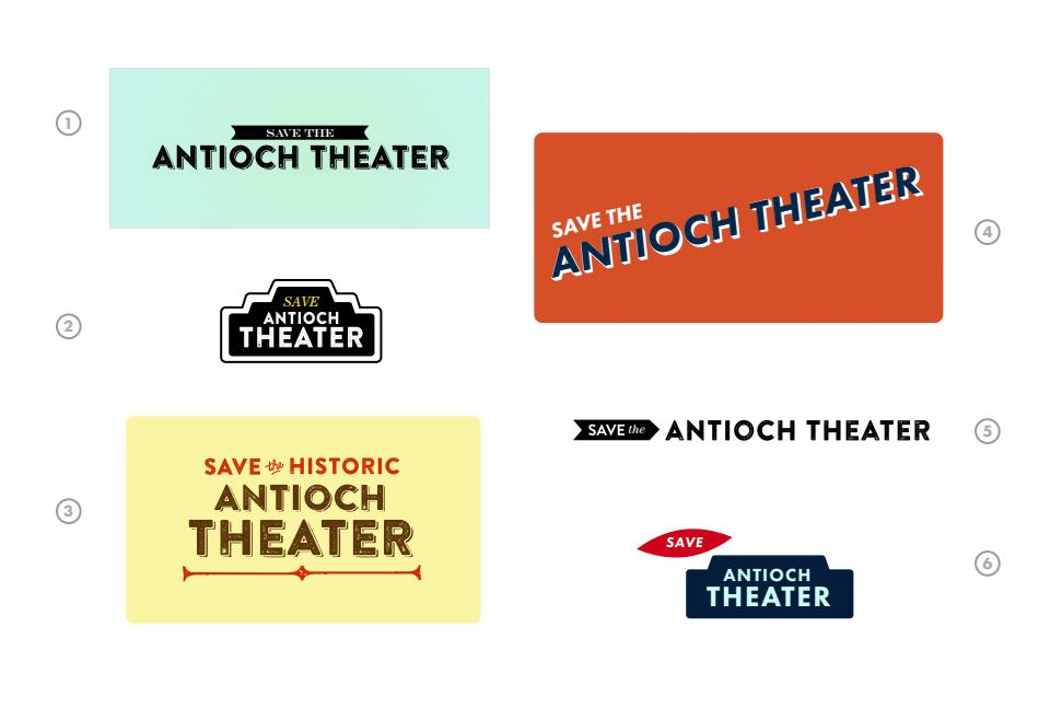 Antioch Theatre logos