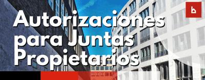 Autorizaciones para juntas de propietarios de una comunidad