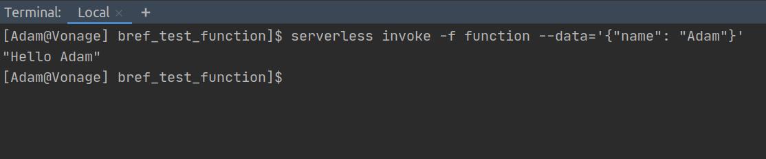 Serverless Lambda Function Execution