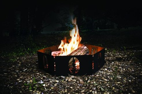 folding portable fire ring