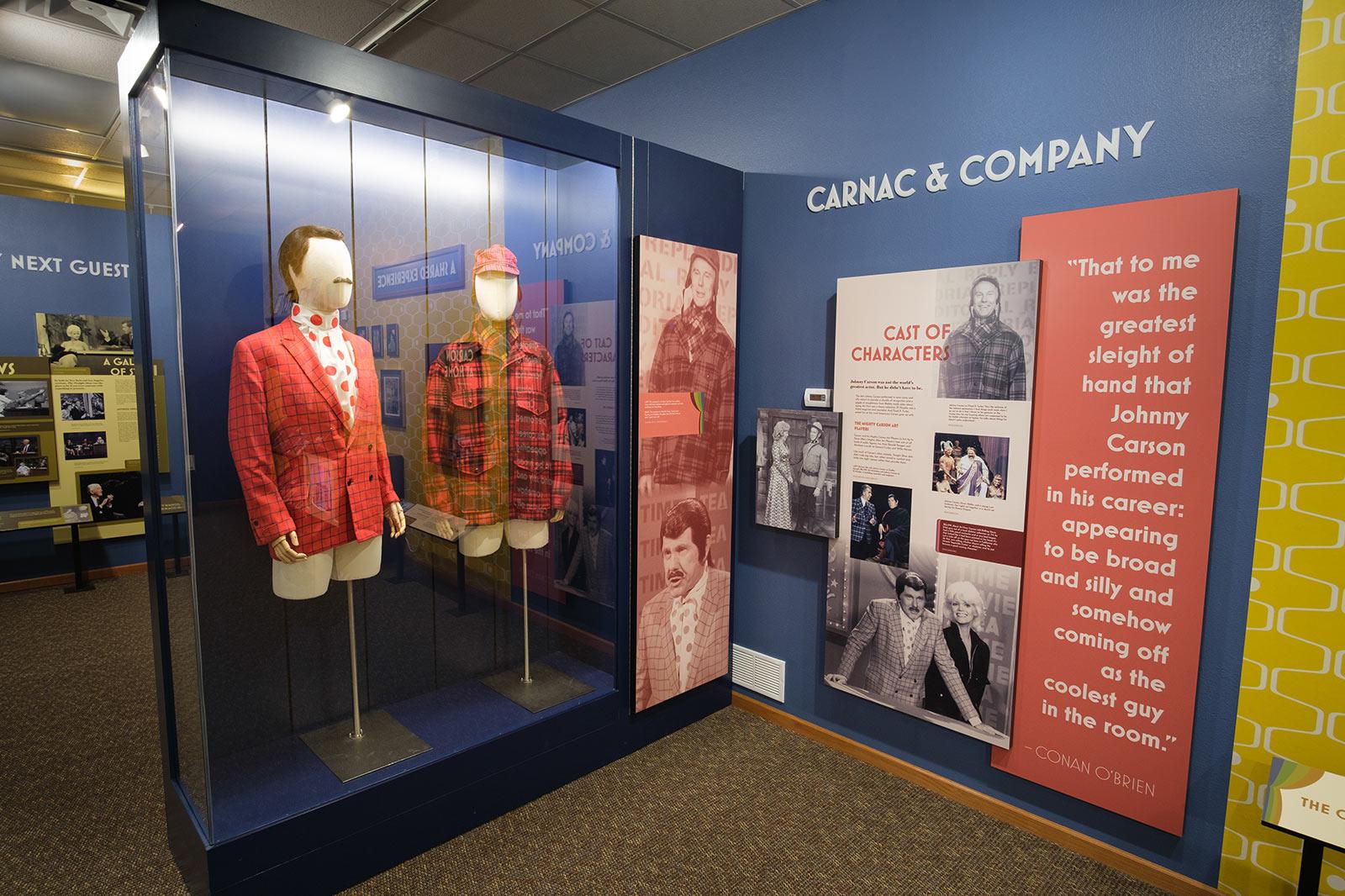 Johnny Carson Exhibit costume showcase