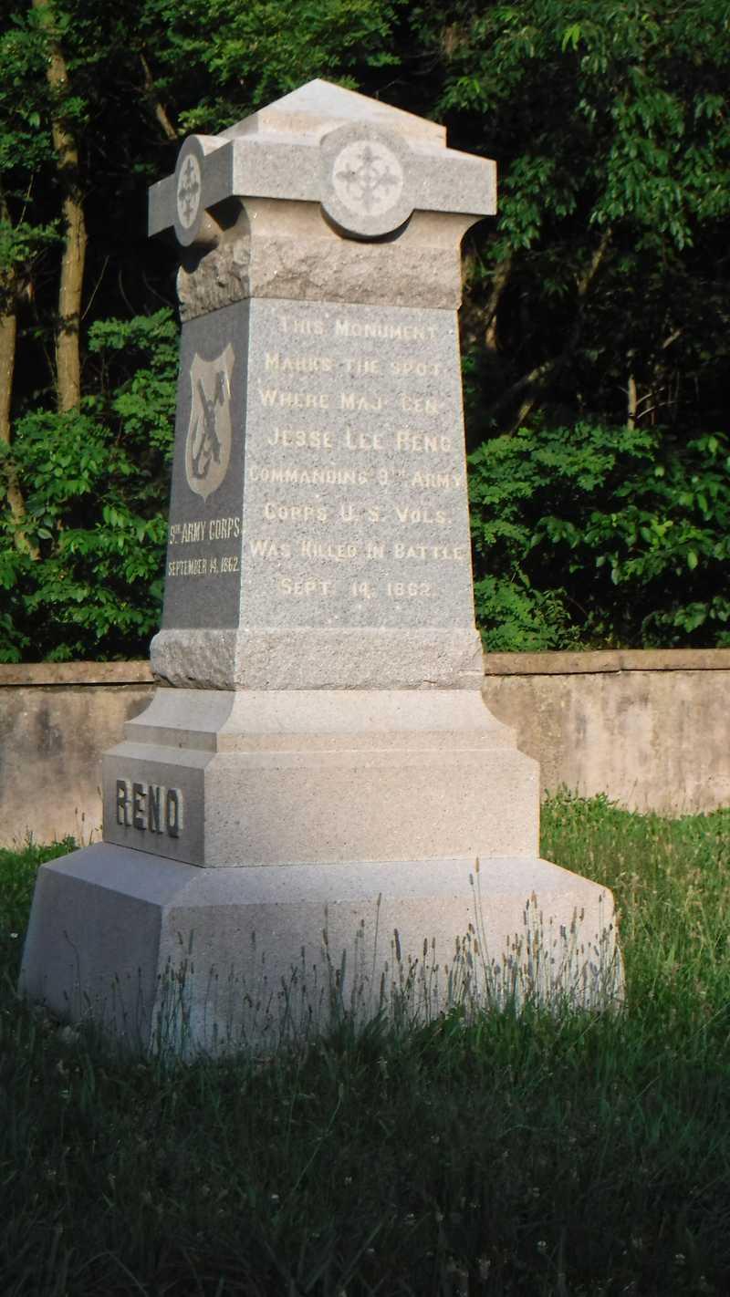 Monument for Union Major General Jesse Reno