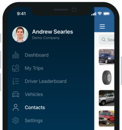 Fleetio go contacts sidebar half