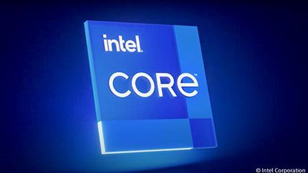 The logo of Intel Core