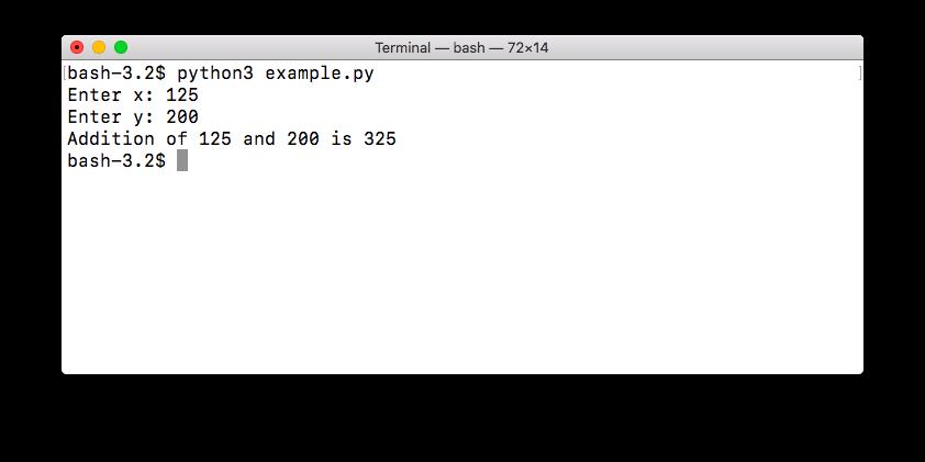 user input integer