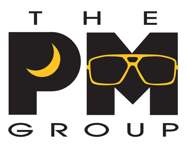 The PM Group Logo with Sunglasses
