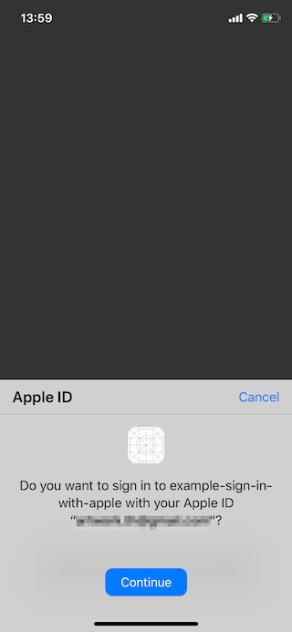 Sign in with Apple second time