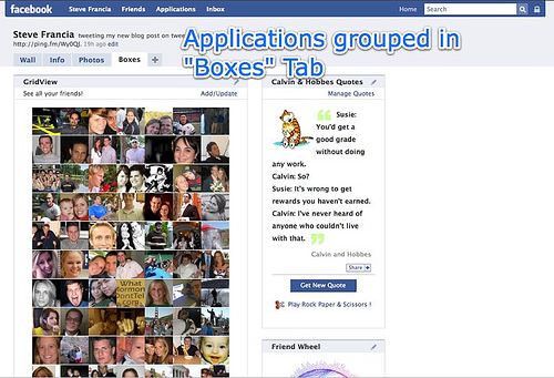 Facebook 2 | Boxes tab