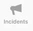 The Incidents icon on the Tab bar.