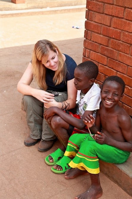 Jo content gathering in Uganda with Comic Relief