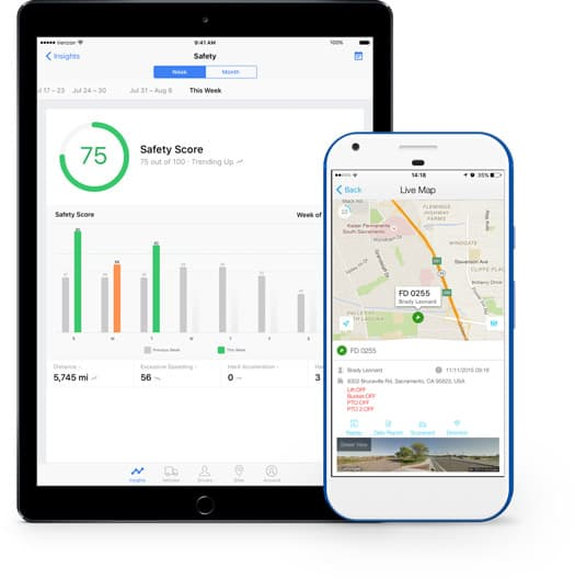Devices fleet tracking app
