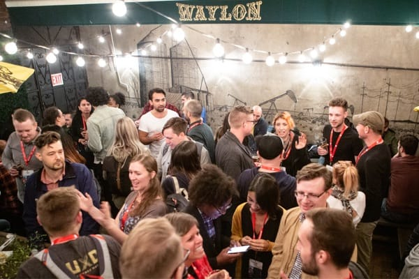 The after party after SmashingConf New York at the Waylon
