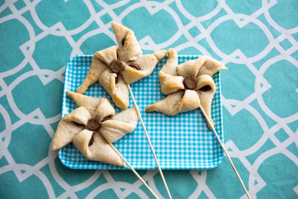vegan sausage crescent roll pinwheels