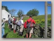 The North Pennines AONB currently uses traditional methods of interpretation such as guided walks  » Click to zoom ->