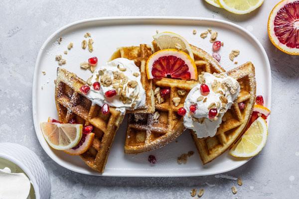 Fluffy Lemon Ricotta Waffles