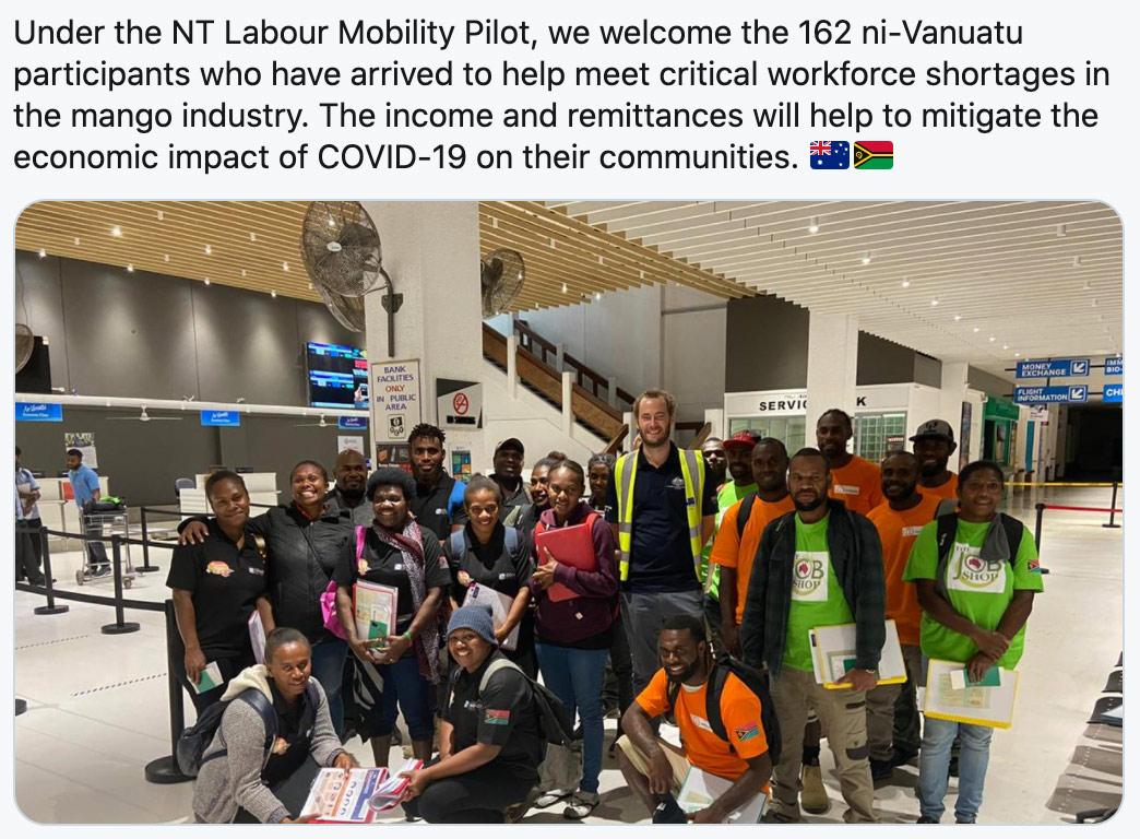 Vanuatu and Australia Pilot Program