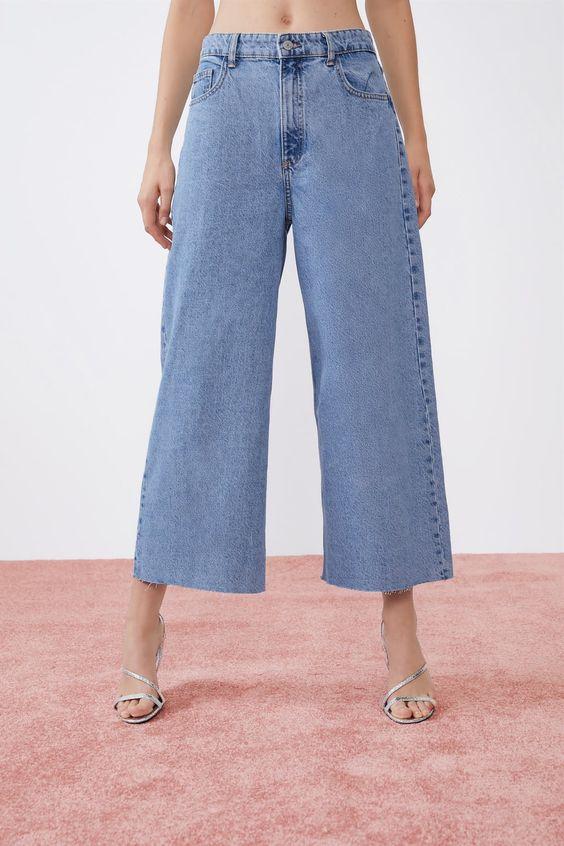 Pantalon en jean large