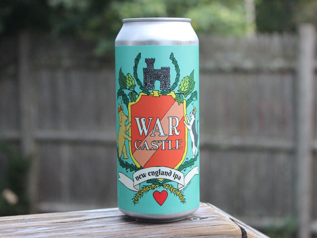 War Castle, a New England IPA brewed by Redemption Rock Brewing Company
