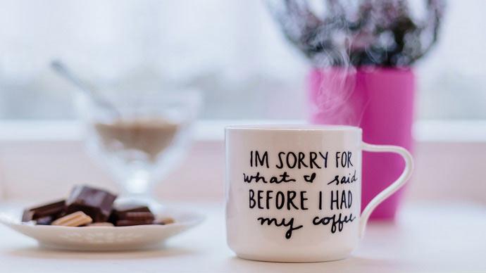 Coffee mug full of caffeine