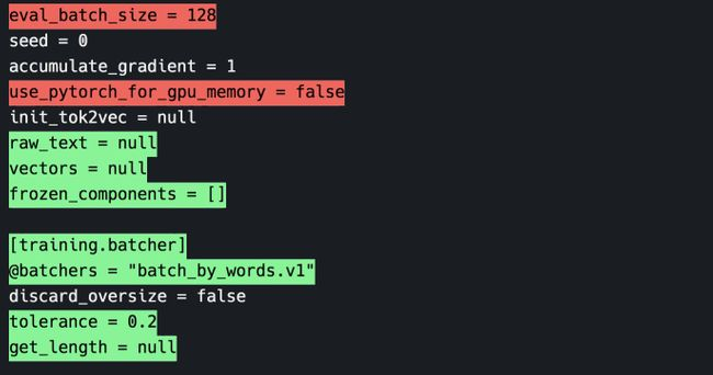 Screenshot of visual diff in terminal