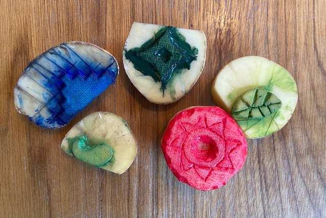 Magic Green - Vegetable Block Printing