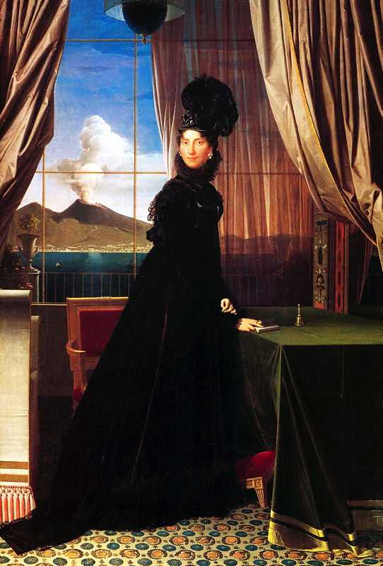 Portrait of Caroline Murat, 1814 by Jean-Auguste-Dominique Ingres, private collection, New York