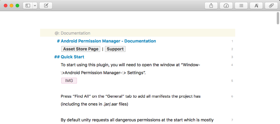 Android Permission Manager Documentation in Ulysses