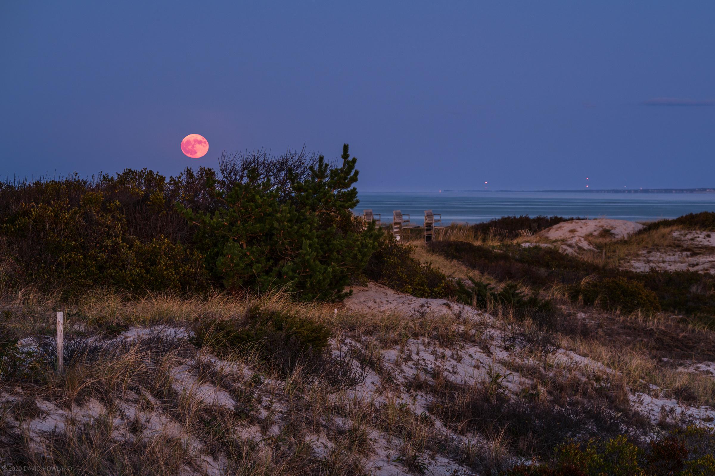 Halloween Blue Moon over Sandy Neck