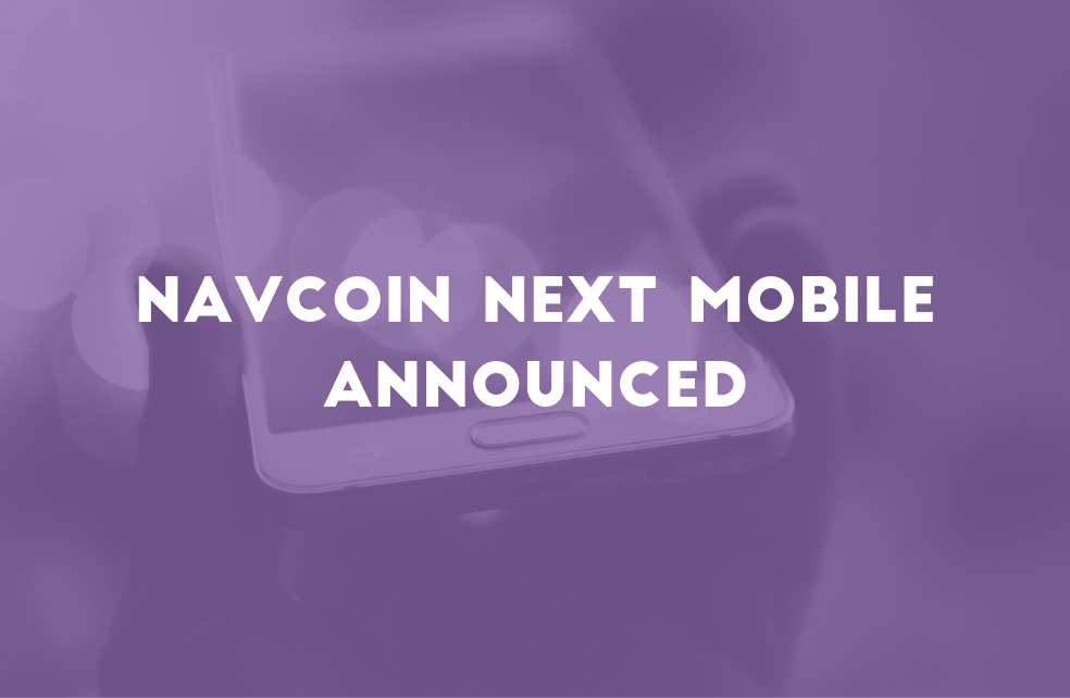 NavCoin NEXT Mobile Announced