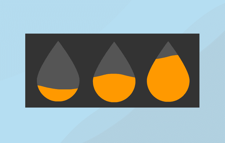 Animated SVG Water Pictorial Fraction in Svelte