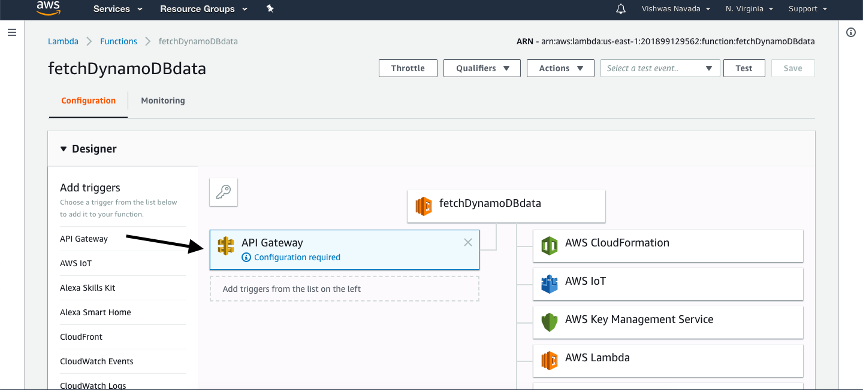 Adding API gateway to Lambda Function