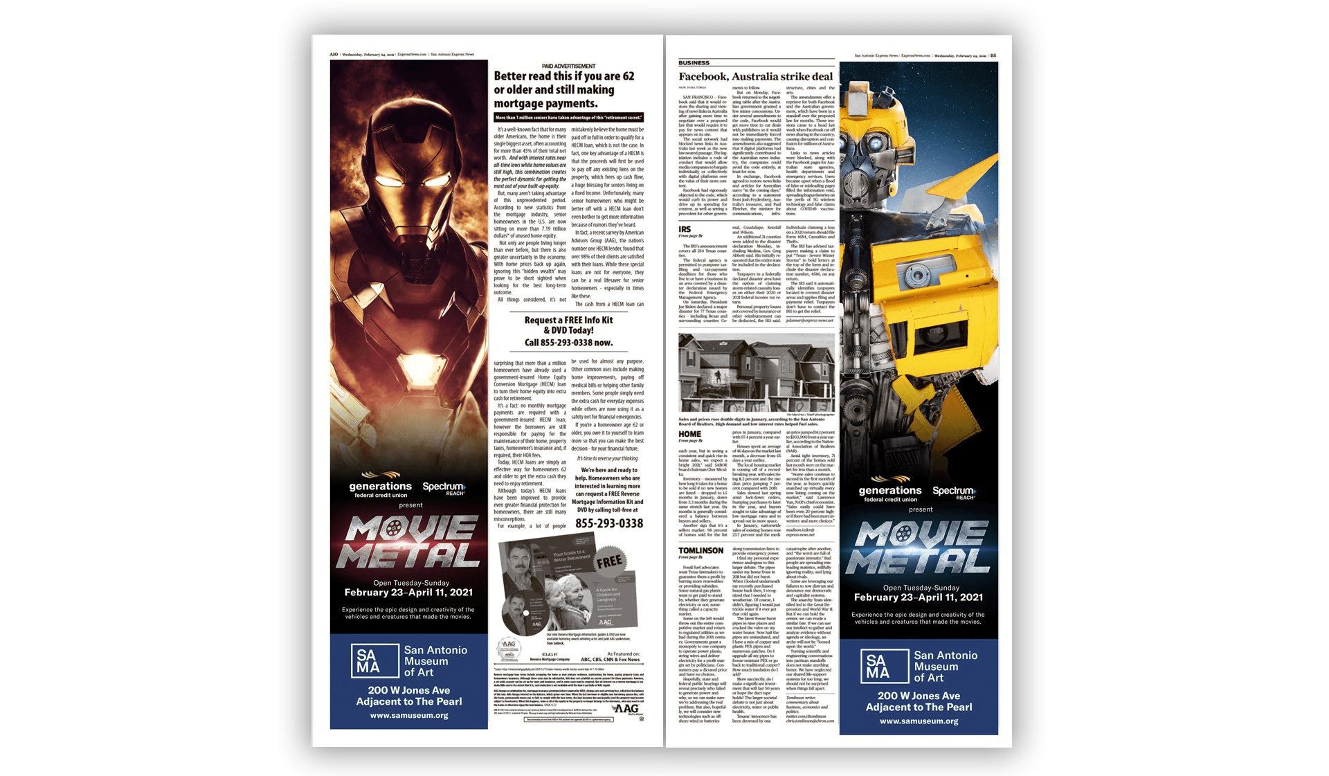 Movie Metal Exhibit Print Ads