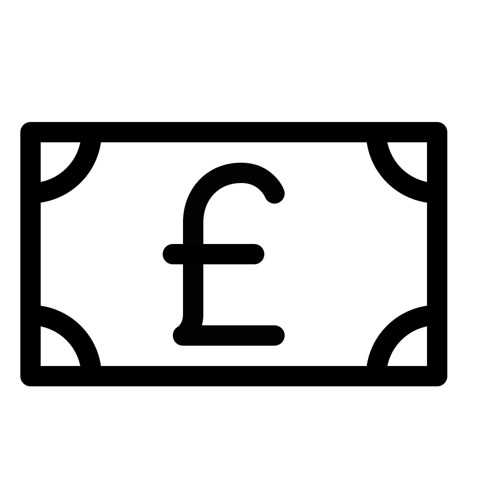 Money note pound