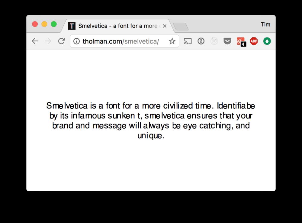 The Smelvetica website.