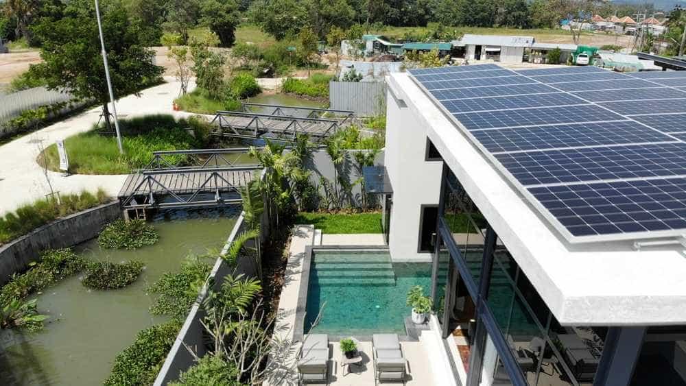 Solar panels in Phuket