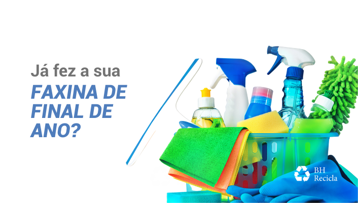 Imagem em destaque para o artigo: Faxina de fim de ano: prepare-se para limpar a sua casa