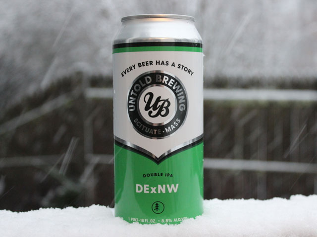 DExNW, a Double IPA brewed by Untold Brewing