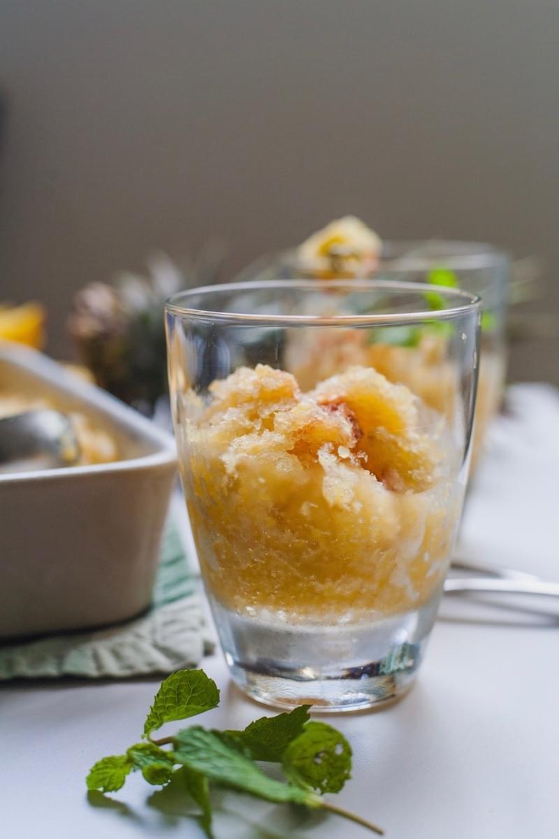 Pineapple Rum Granita