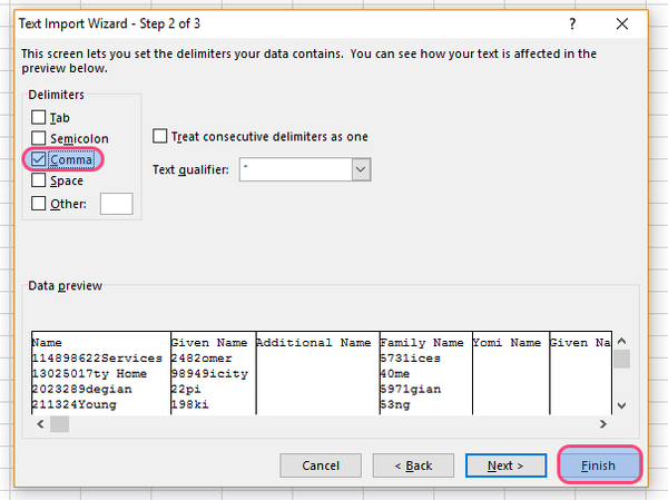 How to process a Google contacts  csv export in excel - Covve