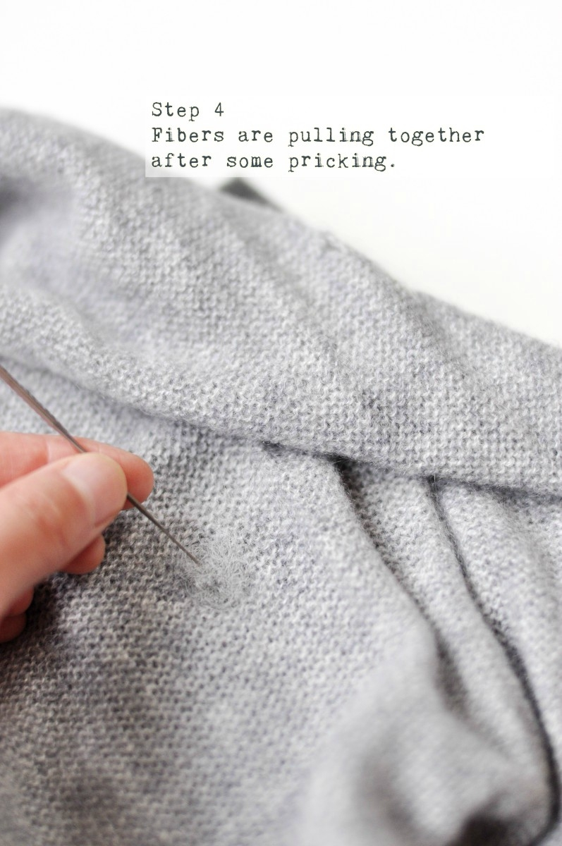 How to mend holes on sweaters the easy way