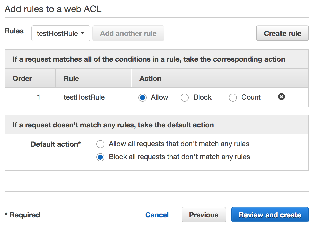 aws waf create web acl