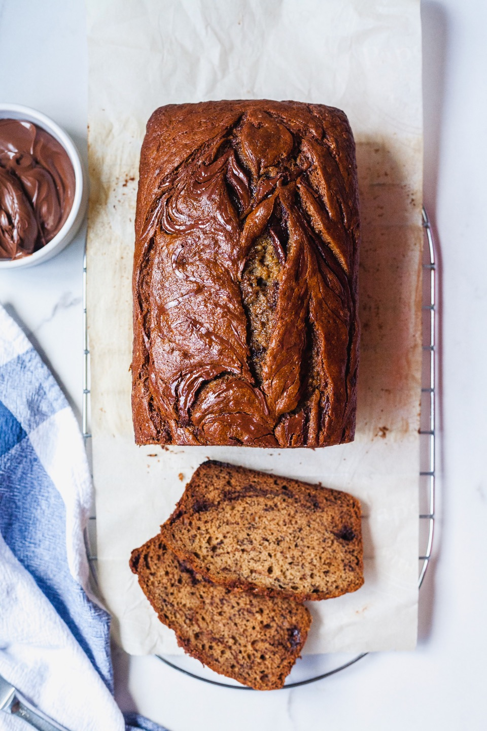 Brown Butter Nutella Banana Bread