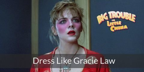 Gracie Law costume is forever immortalized wearing her long, silk, wedding gown and huge, ornate headpiece in the minds of dedicated fans