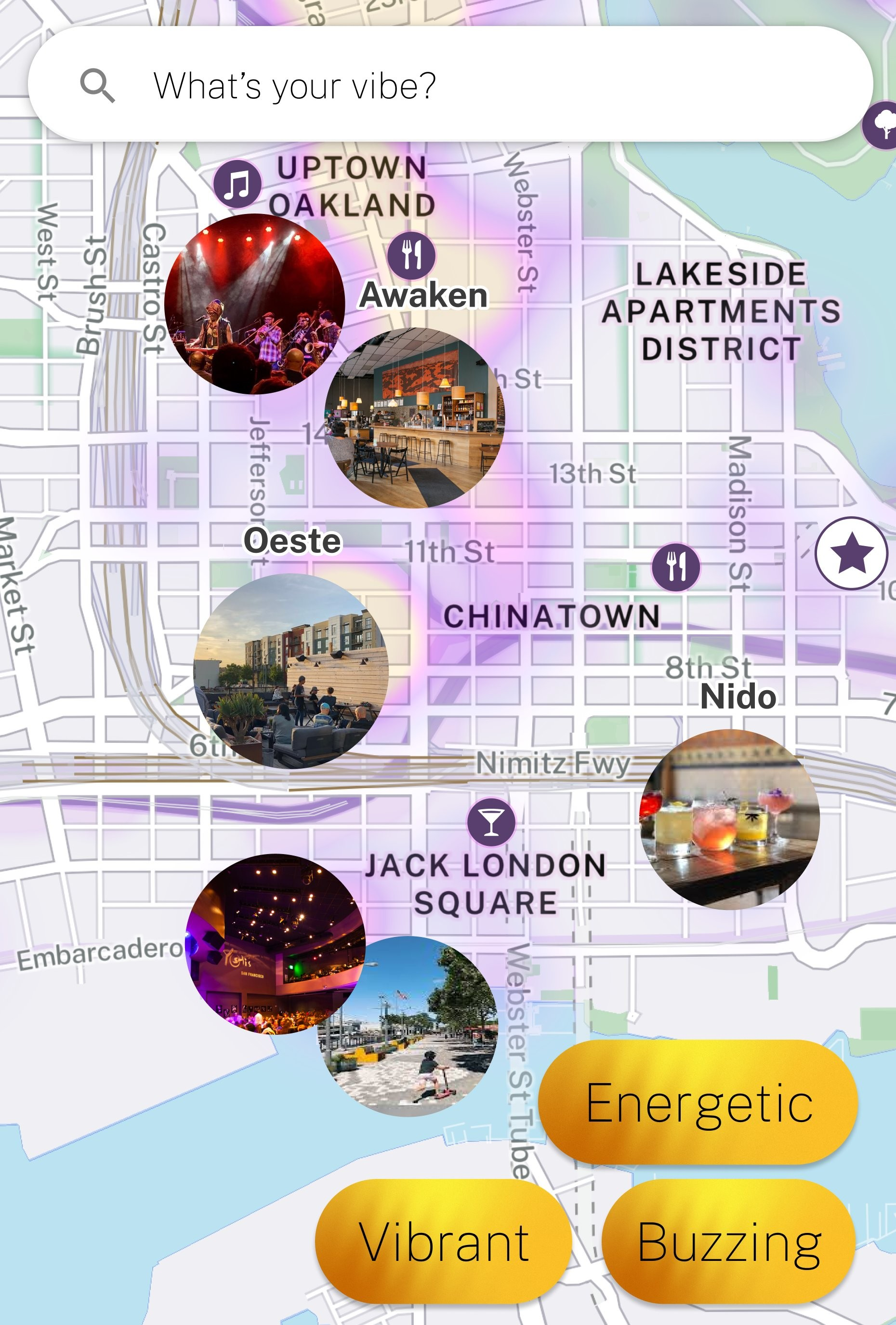 vibes revealed by our map
