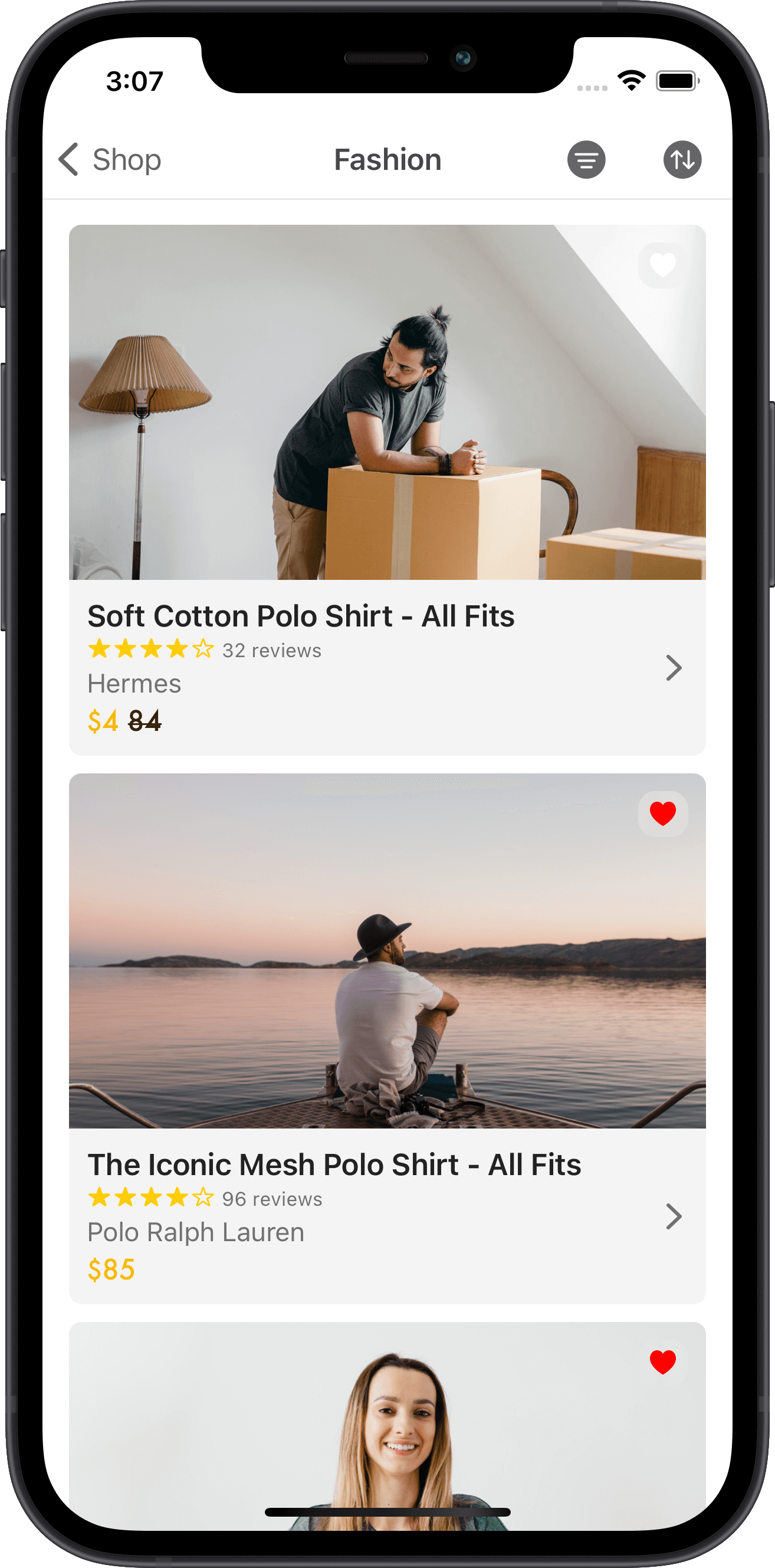 e-commerce, products, shirts