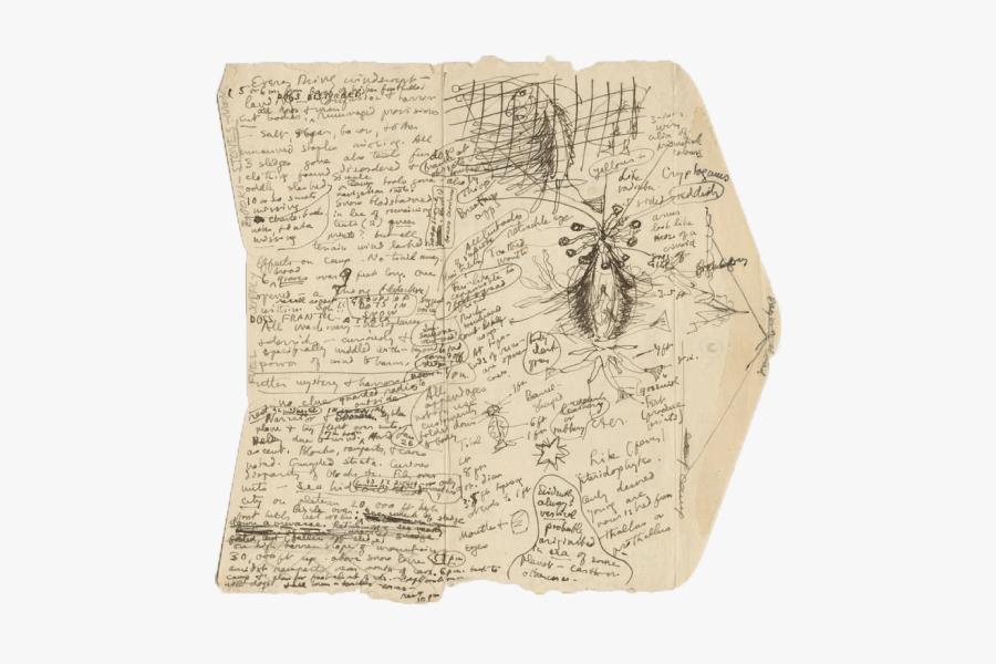 Черновик рассказа «Хребты безумия», 1931. Источник: Courtesy John Hay Library, Brown University