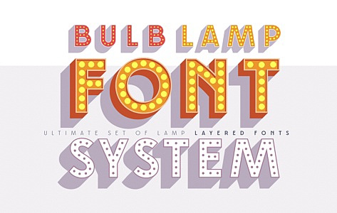 Layered font set 3D Bulblamp images/promo_Bulblamp_1_3.jpg