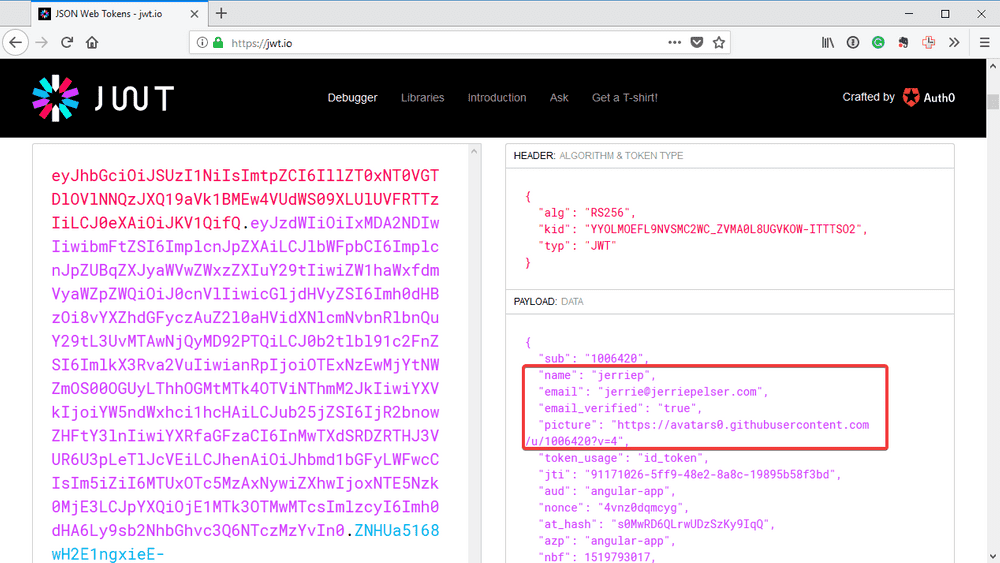 inspect id token 2